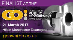 Atebion Solutions were a finalist in the Government Opportunities: Excellence in Public Procurement Awards 2017/18